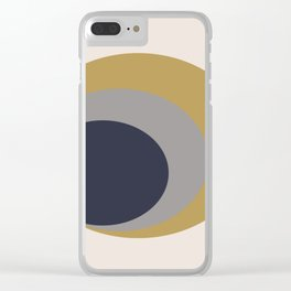 Nested Circles Clear iPhone Case
