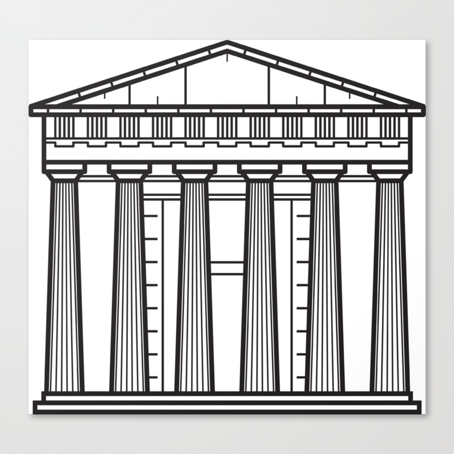 Acropolis Of Athens Greece Canvas Print Large Picture Wall Print