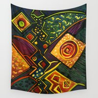 sparkles Wall Tapestries featuring GALAXY SPARKLES by Deyana Deco