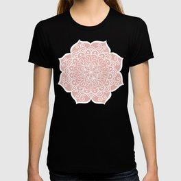 Pretty Mandala on Rose Gold T-shirt
