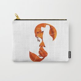 Kissing foxes Carry-All Pouch