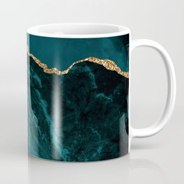 Teal Blue Emerald Marble Landscapes Coffee Mug
