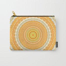 Marigold Orange Mandala Design Carry-All Pouch