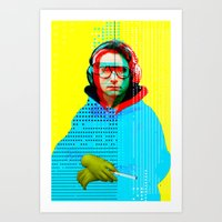 beastie boys Art Prints featuring Gioconda Music Project · Beastie Boys · Adam Horrovitz by Marko Köppe