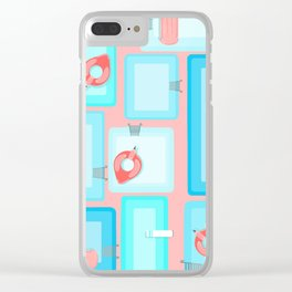 Flamingo Pool Party (Pink) Clear iPhone Case