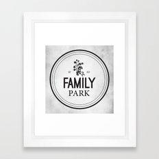 Family Park Framed Art Print
