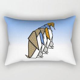 Origami Penguins Rectangular Pillow