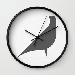 Gray Bird Wall Clock