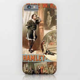 Vintage Hamlet Theatre Poster iPhone Case
