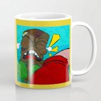 boxing Mugs featuring Tiki Boxing by TEMOANA