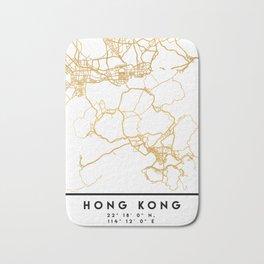 HONG KONG CHINA CITY STREET MAP ART Bath Mat