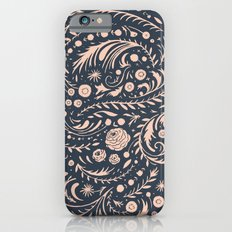Navy Flora Swirl Slim Case iPhone 6s
