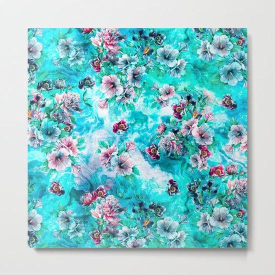 Floral Ocean II Metal Print