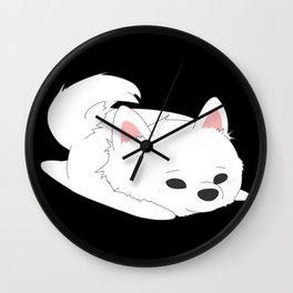 Samoyed Loaf Wall Clock