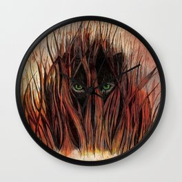 In the Grass Wall Clock