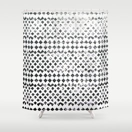 Glimmering Sea Water Mosaic Shower Curtain
