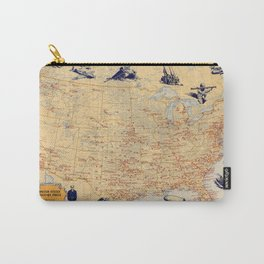 American Military Posts 1944 Carry-All Pouch