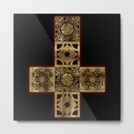 Lament Configuration Cross Metal Print