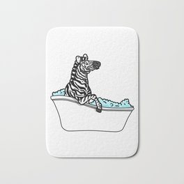 Bathtub zebra Bath Mat