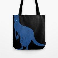kangaroo Tote Bags featuring Kangaroo by tamara elphick