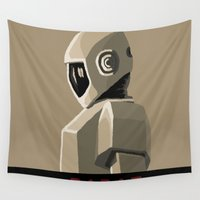 robot Wall Tapestries featuring Robot by Kidney Theft
