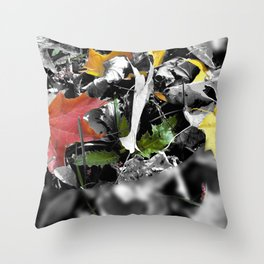 colors in contrast Throw Pillow