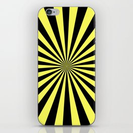 Starburst (Black & Yellow Pattern) iPhone Skin