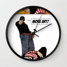 Less Talk! More Art! Wall Clock