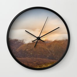 Sunrise over Mourne Mountains Northern Ireland Wall Clock