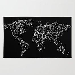 World map black Rug