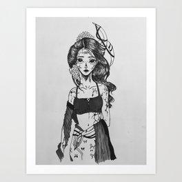 High Priestess Sachi Art Print