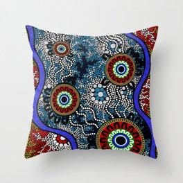 Aboriginal Art – Camping Throw Pillow