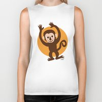 monkey Biker Tanks featuring Monkey by BATKEI