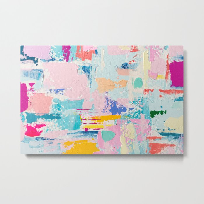 THE GOOD STUFF 3 // ABSTRACT MIXED MEDIA ON CANVAS Metal Print