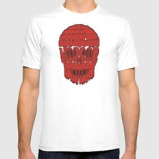 horror SMALL Mens Fitted Tee White