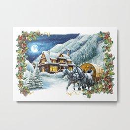 Christmas Winter Scene Metal Print
