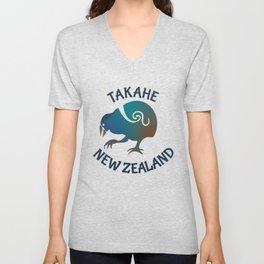 TAKAHE New Zealand Native bird Unisex V-Neck