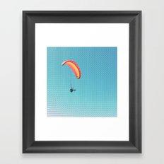 'chuting (Parachuting through the sky) Framed Art Print