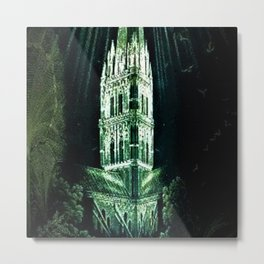 Memorial Glass Prism Engraving at Salisbury Cathedral by Rex Whistler Metal Print