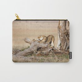Lioness stretching Carry-All Pouch