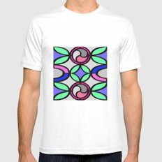 Mosaic MEDIUM White Mens Fitted Tee