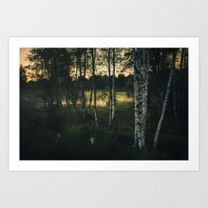 The silence in between Art Print