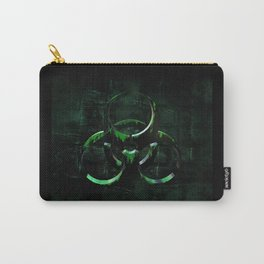 Green Grunge Biohazard Symbol Carry-All Pouch