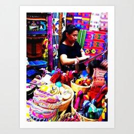 Guatemalan Shops Art Print