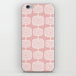 Mid Century Modern Atomic Rings Pattern Dusty Rose iPhone Skin