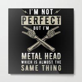 Metal Head Metal Music Fan Saying Metal Print