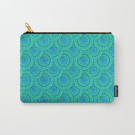 Teal Parasols Pattern Carry-All Pouch