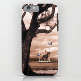 Woodland swing iPhone Case