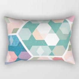 Pastel Hexagon Pattern Rectangular Pillow