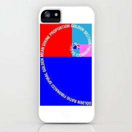 Golden Ratio, Fibonacci Spiral, Typographic iPhone Case